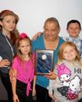 Rita Fryberger and her grandchildren