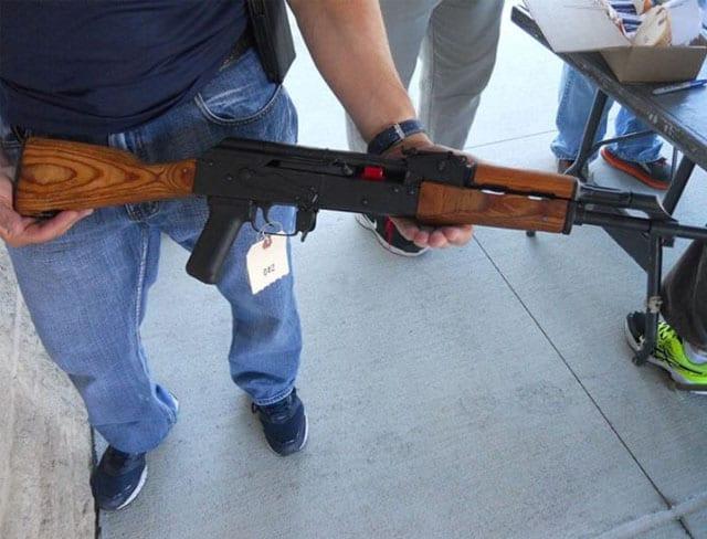 AK 47 retrieved during gun buyback