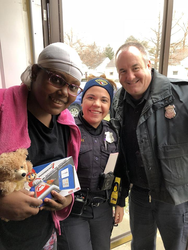 Ni-Asia decided to give her Nintendo to her parents pay for daily necessities. Officers reached out to the CPF and ClevelandCops for Kids to see what they could do. CPF went to our friends at Steelyard Target who gave us a great deal on a Nintendo for Ni-Asia.