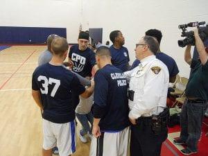 C.P.D. officers get a pep talk from Lt. Montanero & Sgt. Maffo-Judd.