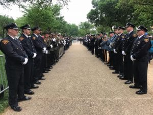 Cleveland Police Honor Guard and Pipes & Drums in Washington, DC for National Police Memorial Day, May 15th.