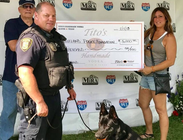 Tito's donation to K-9 program