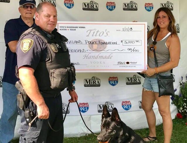 Tito's donation to K-9 program