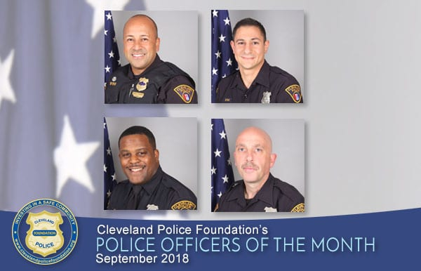 September 2018 Police Officers of the Month
