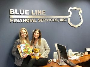 Blue Line Financial Services donation for little free library