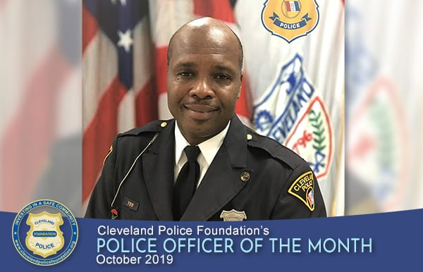 Cleveland Police Foundation's Police Officer of the Month for October 2019, Patrol Officer Lynn Hampton