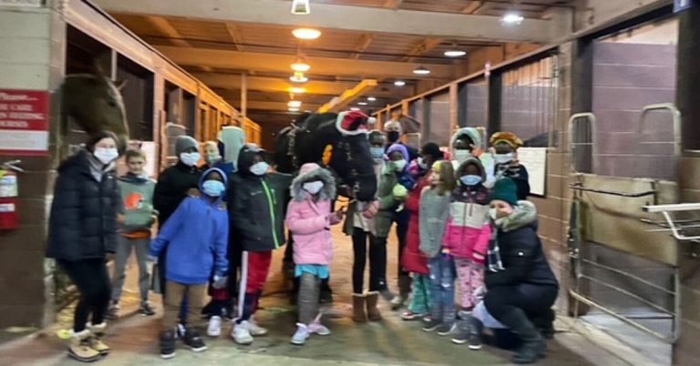 Refugees at Mounted Unit
