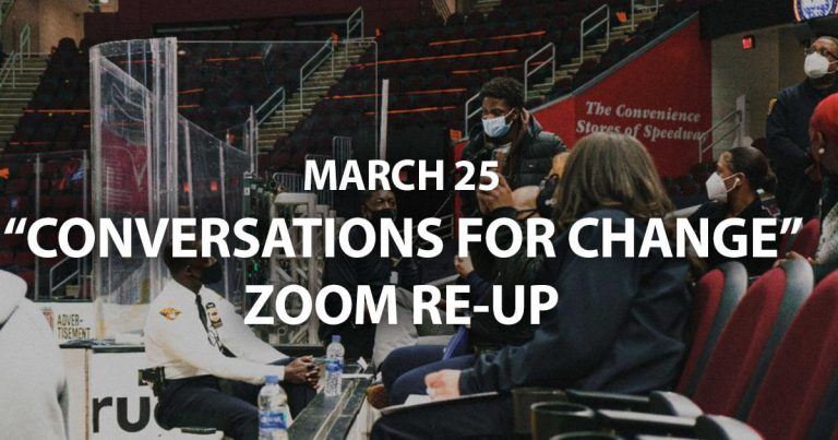 conversations for change March 25 2021